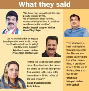 Reactions on Motor Vehicles Act, India
